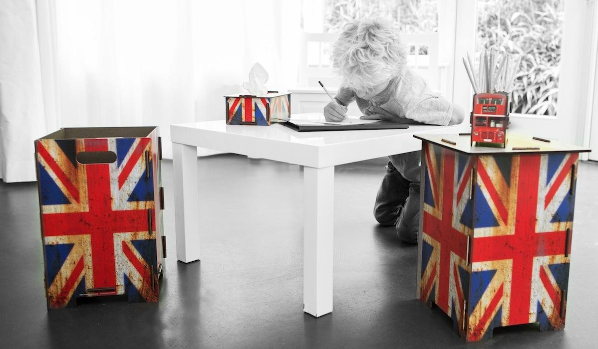 werkhausproducten met afbeelding van Britse vlag