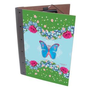 Klemmap van Werkhaus met vlinders en bloemen