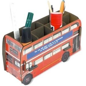 Rood pennenbakje van Werkhaus - Britse Dubbeldekker