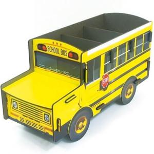 Werkhaus opbergbakje in de vorm van een Amerikaanse schoolbus