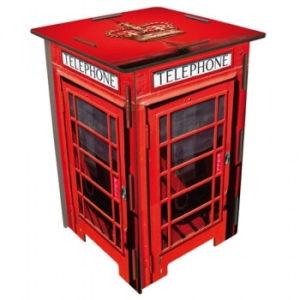 Hocker van Werkhaus in de vorm van een rode Britse telefooncel